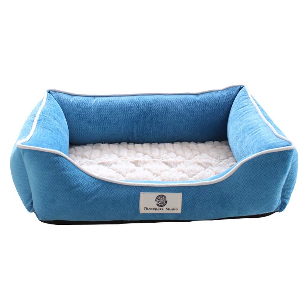 L 66ccwwww Pet bed Pet nest, kennel cat litter small dog medium dog winter warm pet nest washable dog house (M, L) (Size   L)