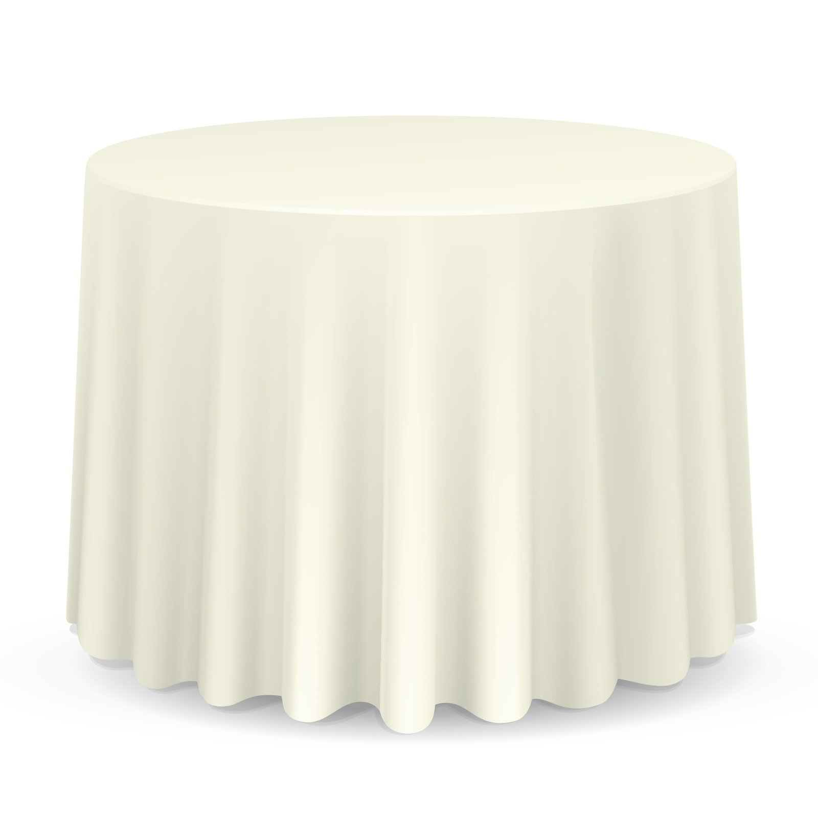 Lann's Linens - 10 pcs 132 in. Round PREMIUM WEIGHT Seamless Tablecloths - for Wedding or Party Use - Ivory