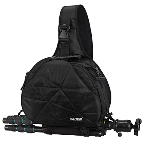 45394264654 CADeN Large Camera Sling Bag Backpack with Rain Cover Waterproof Shoulder  Bag Crossbody Messenger Camera Case
