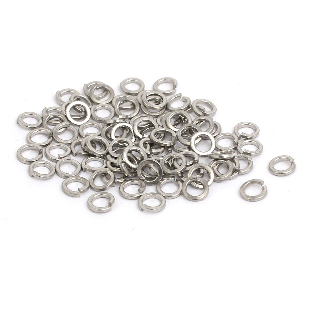 uxcell M3 Inner Diameter 304 Stainless Steel Split Lock Spring Washer Gasket 80pcs a17060600ux0634