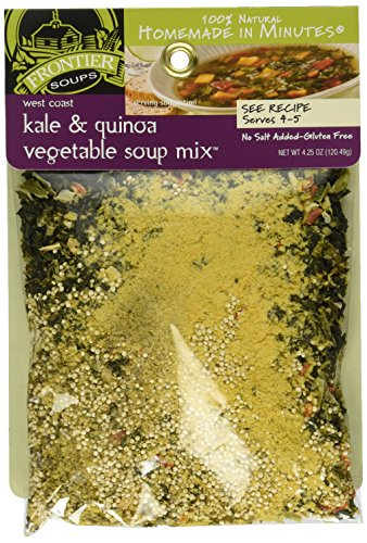 Frontier Soups Homemade in Minutes West Coast Kale and Quinoa Vegetable Soup Mix, 4.25 Ounce (Kale Soup)
