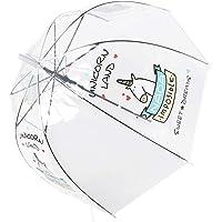 Paraguas Unicornio,Paraguas Transparente, a Prueba de Viento
