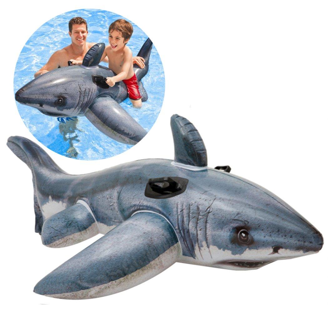 Fansport Flotador de La Piscina, Kids Flotador de Agua Flotador Inflable de Tiburón En La Playa Juguete Flotador de La Natación: Amazon.es: Deportes y aire ...
