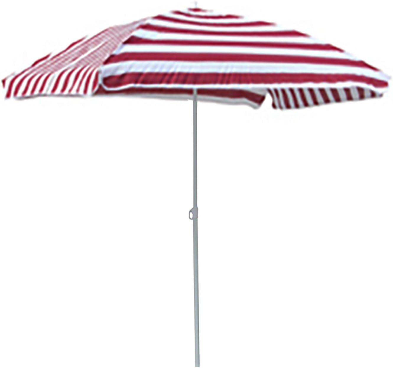 FineHome Sonnenschirm Strandschirm Strand Sonnenschutz mit Tasche knickbar rechteckig rot-Wei/ß gestreift 120x180cm