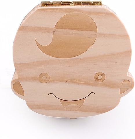 Caja de Dientes, Caja para guardar dientes para niños y niñas, Regalo para niños en madera de souvenir, Acumulación de dientes (Niño): Amazon.es: Bebé