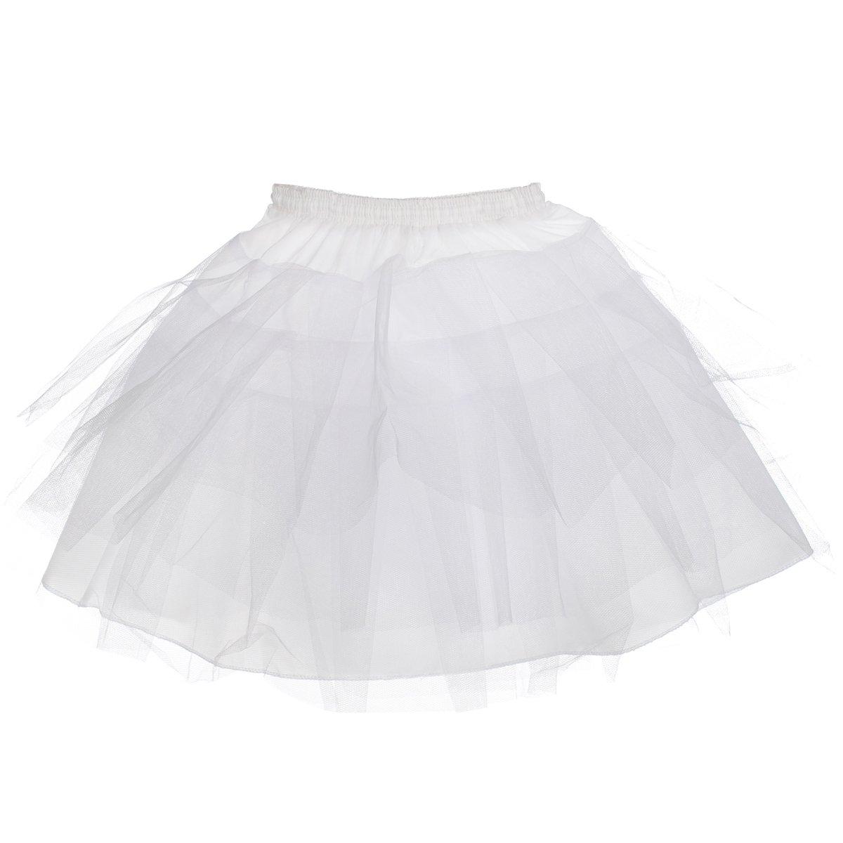 AW Girls Tulle Petticoat Hoopless Kids Soft Half Slip Tutu Skirt Dress AWUSQC130U061