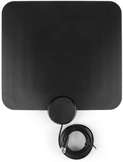 Aluratek Indoor HD Digital Amplified TV Antenna HDTV Channels Free Over-The-Air