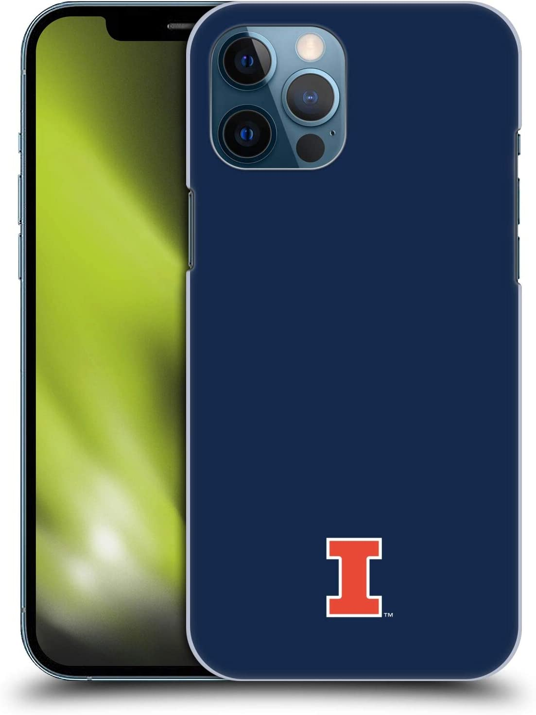 Head Case Designs Officially Licensed University of Illinois U of I Fighting Illini Hard Back Case Compatible with Apple iPhone 12 Pro Max