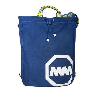 【ノーブランド品】ショルダーバッグ ナップサック 大容量 巾着 袋 バッグ バイカラー ロゴ