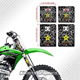 Kungfu Graphics Upper and Middle Fork Tube Guards Decals Stickers Set