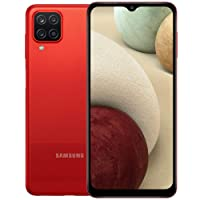 Samsung Galaxy A12 (A125M) 64GB Dual SIM, GSM Unlocked, (CDMA Verizon/Sprint Not Supported) Smartphone Latin American Version No Warranty (Red)