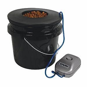 HTGSupply 3.5-Gallon Bubble Boy Single Shot Deep Water Culture (DWC) Hydroponic Bucket System