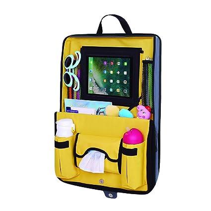 Parenthings integrar closable coche asiento trasero Organizador. Diseño único con soporte extraíble para tablet y