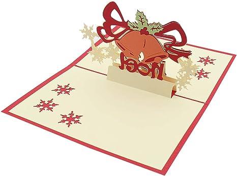 Amazon.com: Tarjetas de Navidad 3D para regalos de Navidad ...