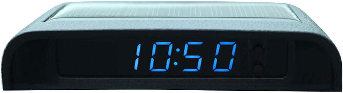 Wendaby Auto Uhr Digital Leuchtend Klein Auto Uhr Stick On Digitaluhr Solarbetrieben 24 Stunden Auto Uhr Mit Eingebauter Batterie Autodekoration Elektronisches Zubehör Auto
