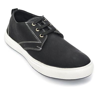 DESI JUTA Latest Fashion Spotted Casuals Shoes for Men Mens Men s Black d2f3cfa28bbd