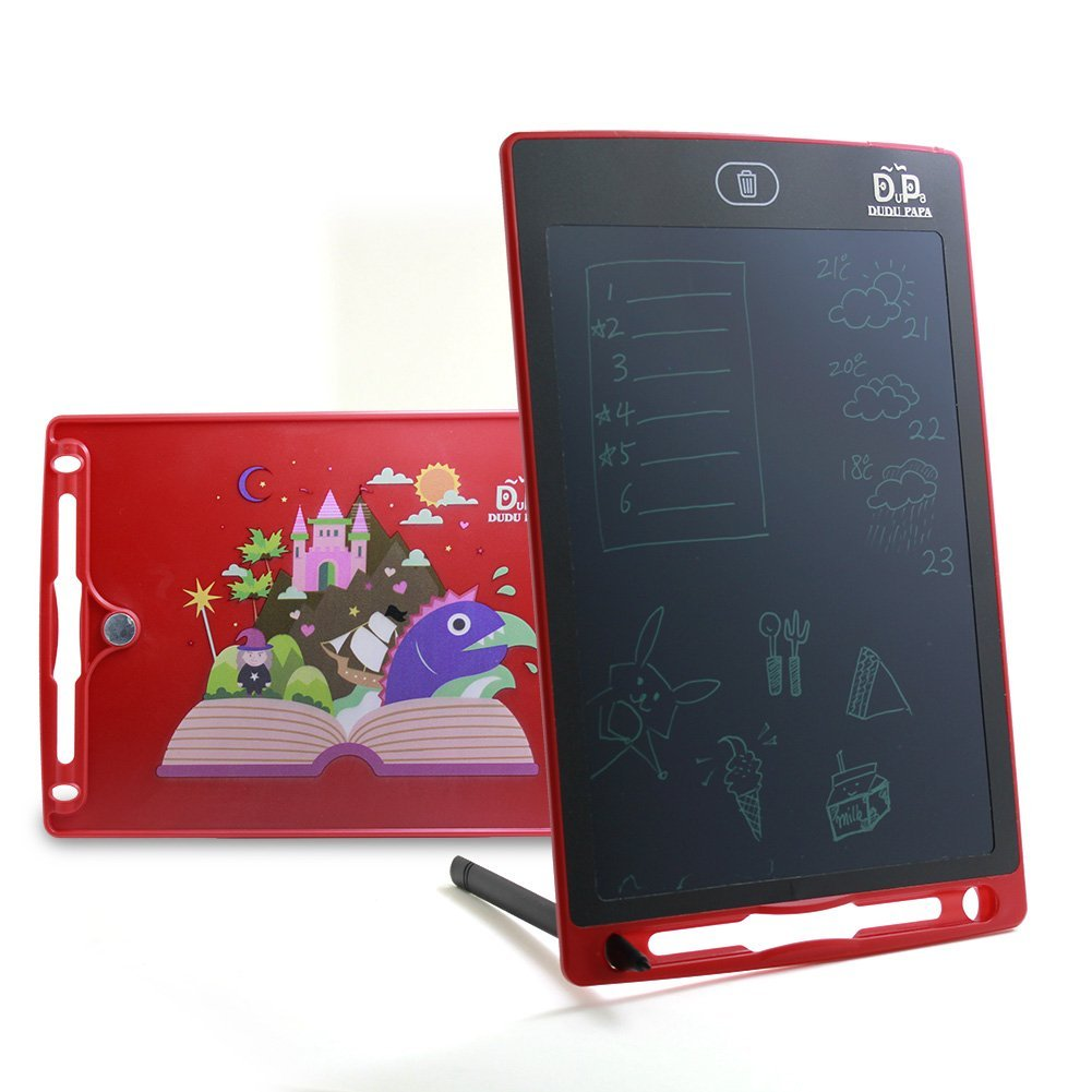 DuDu PaPa LCD Writing Tablet LCD Board Writing pad Writing Tablets for Kids 8.5inch Drawing Board Doodle Pad Writing Board Kids Tablet Kids Doodle pad Fridge Magnet Notepad Back to School Gift
