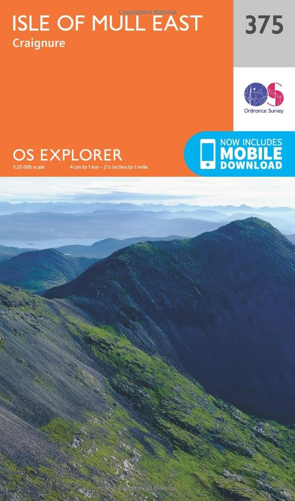 Isle of Mull East 1 : 25 000 (OS Explorer Active Map)