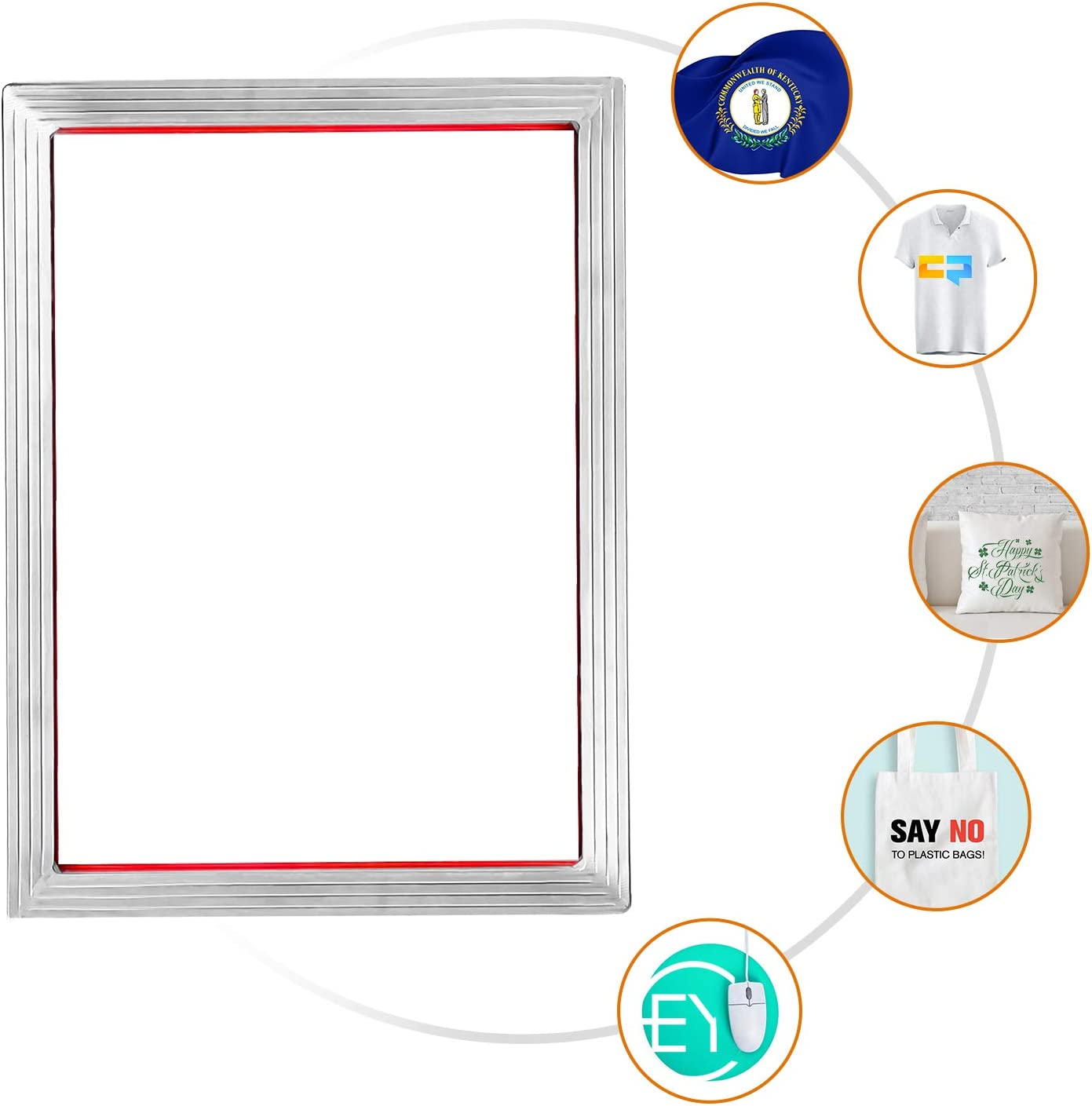 Inkjet Transparency Film and Mask Tape Arshvyl Screen Printing Starter Kit Include 8 x 10 Inch Aluminum Silk Screen Printing Frame with 110 White Mesh Screen Printing Squeegees
