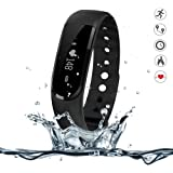 Fitness and Wellness Activity Tracker, Morefit Fitness and Wellness Activity Tracker with Heart Rate Pulse Waterproof Activity Tracker Pedometer Clock Note Compatible with iPhones Android Phone H7