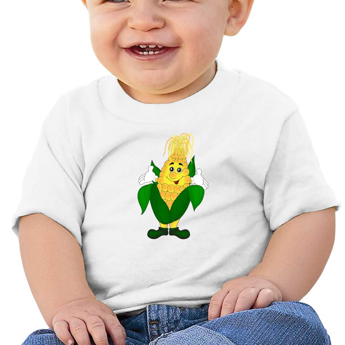 AiguanCorn Man Toddler//Infant Short Sleeve Cotton T Shirts White 40