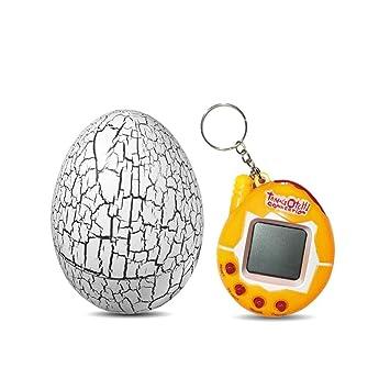 KOBWA Tamagotchi Virtual Pet, 90s Nostalgic Lindo Crack Dinosaurio Huevo Original Juego electrónico, Vaso niños Juguetes Digital Mascotas Llavero Regalo ...