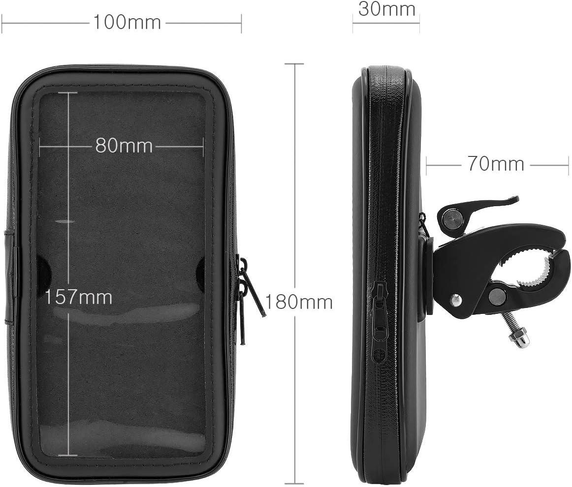 6,3 pollici come per iPhone Plus//Samsung//Huawei//Sony ecc. MidGard Supporto per bicicletta e moto impermeabile universale con custodia impermeabile per smartphone cellulare da 5,5 pollici