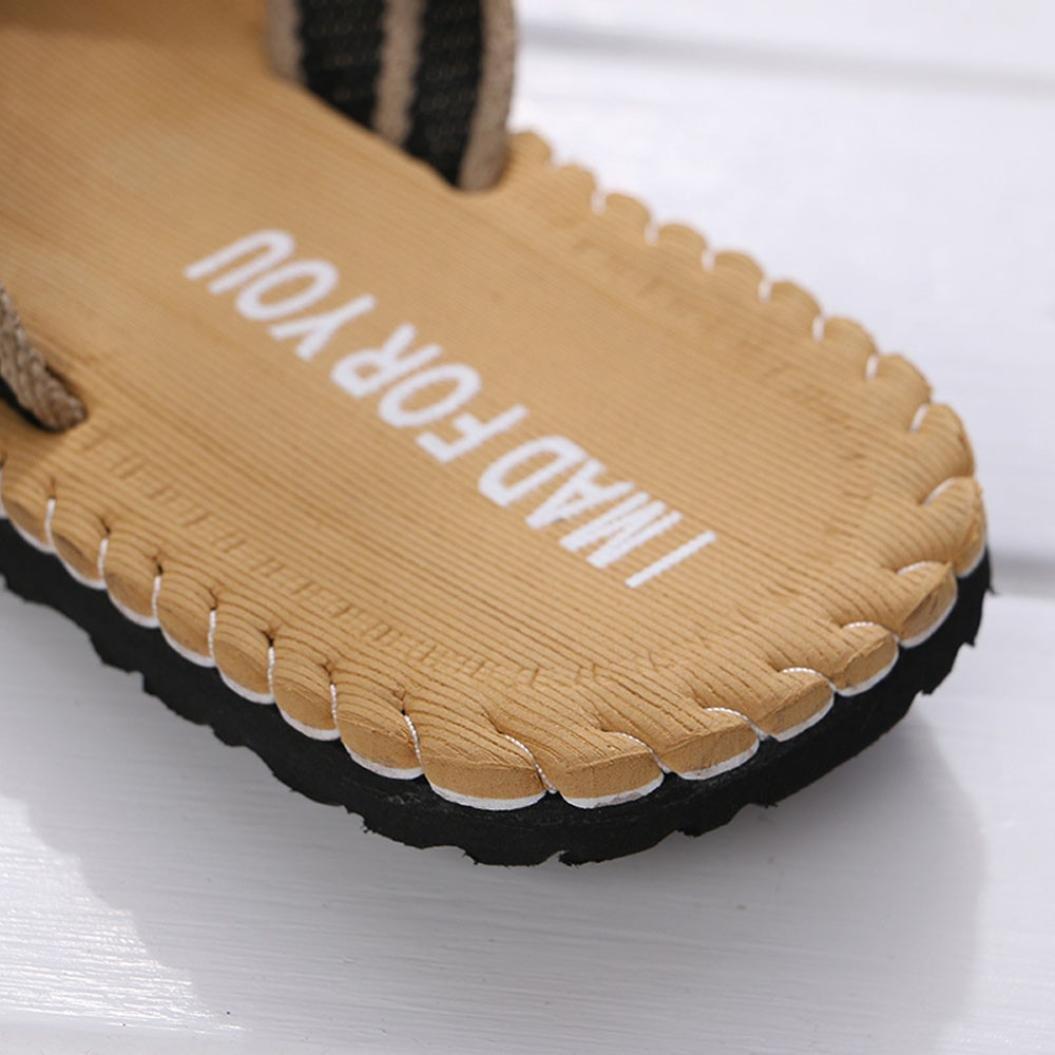 Zapatillas de Casa para Hombre Yesmile Zapatos de Verano de Hombre con Patrón del Alfabeto Chanclas de Interior o al Aire Libre Sandalias de Casa de Baño (43, marrón): Amazon.es: Zapatos y