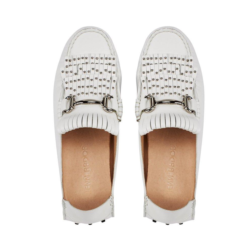 jenn ardor Women's Convertible Loafer Slides Slip-on Mules Slippers Leather Flat Shoes Driving Moccasins by jenn ardor (Image #4)