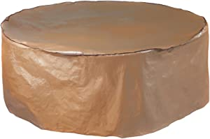 Abba Patio Outdoor Round Table and Chair Set Cover Porch Furniture Cover Waterproof, Brown, 84'' Dia.