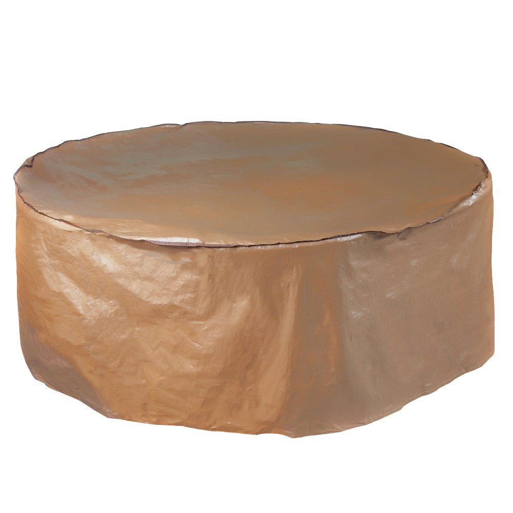 Abba Patio Outdoor Round Table and Chair Set Cover Porch Furniture Cover Waterproof, Brown, 70'' Dia.