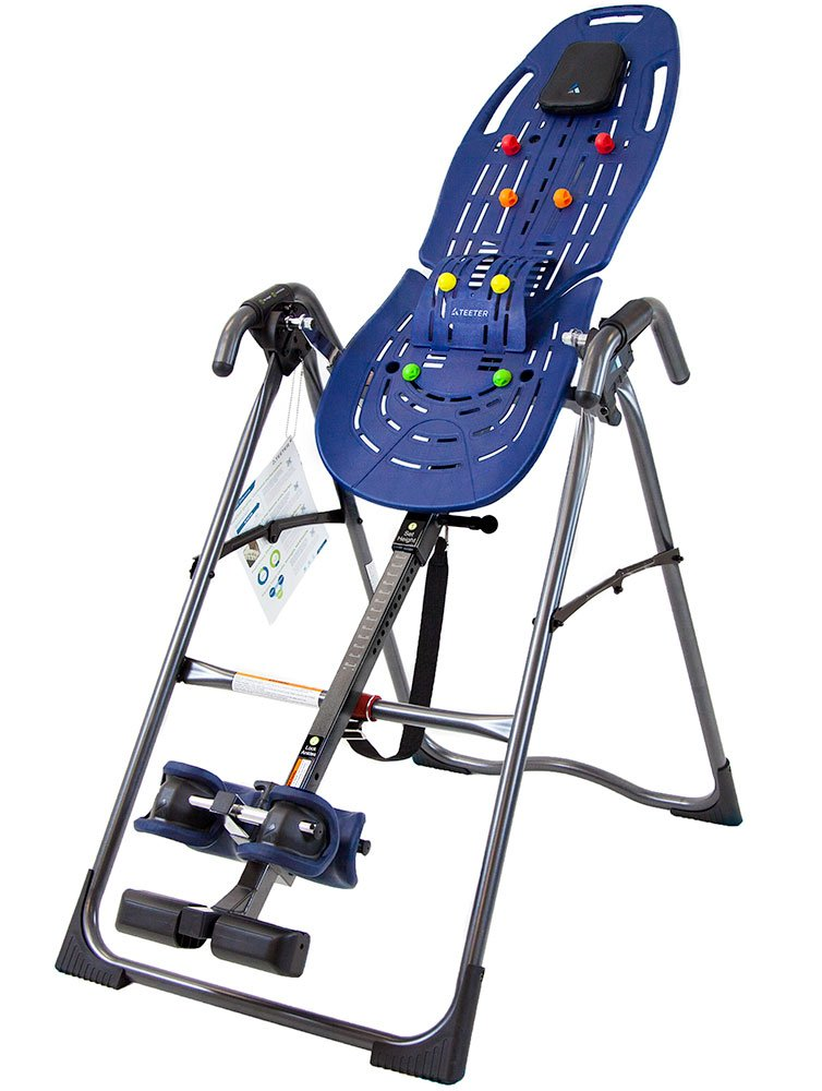 Teeter Ep-560 LTD. Refurbished Ep-560 Inversion Table for Back Pain Relief, Fda Cleared, 3Rd-Party Certified, Blue