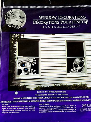Halloween Creepy Spooky Stickers Decor Home Window Gel Clings Decorations Haunted House Monster Window (Homemade Cookie Monster Halloween Costumes)