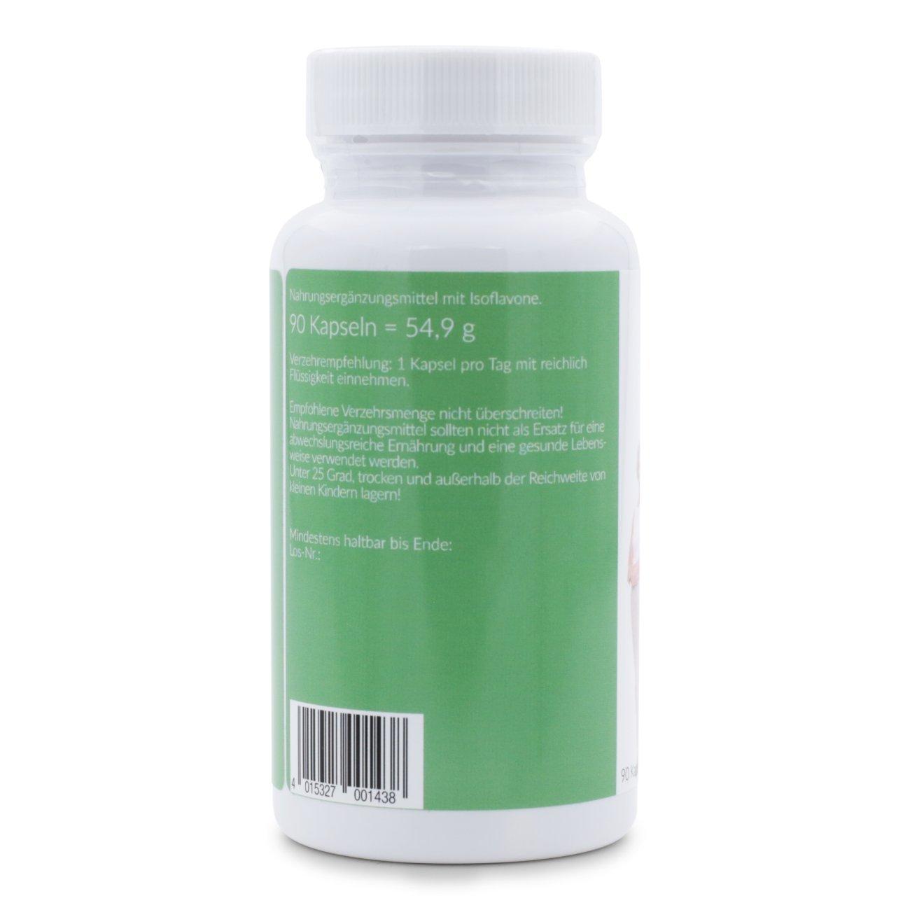 Isoflavonas de soja (capsulas) - síntomas de la menopausia - Menopausia - Bochornos - Cambios de humor - Sudor - 90 cápsulas: Amazon.es: Salud y cuidado ...