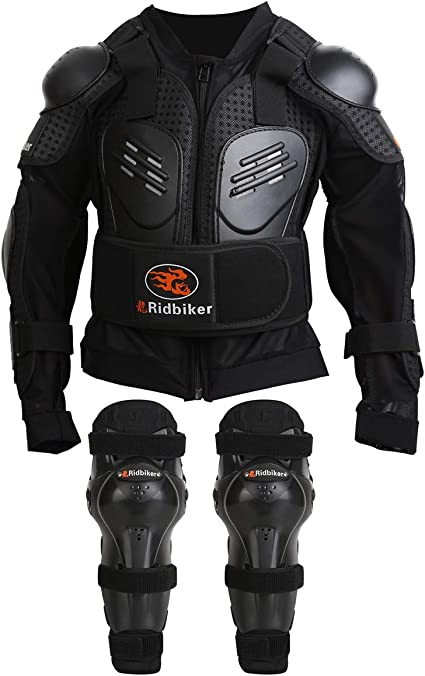 Kids Motorcycle Body Armor Vest Jacket Spine Chest Protection Riding Gear XXS US