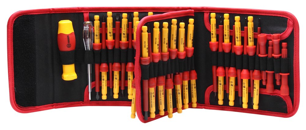 BOOHER 0200106 50-Piece 1000V Insulated Changeable Screwdriver Set