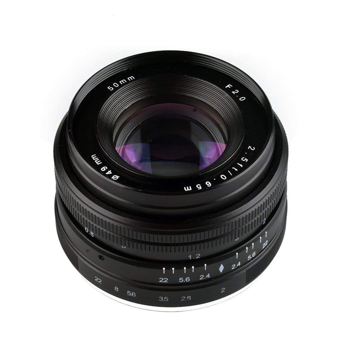 Fantasyworld 50mmF2.0 Micro einziges manuelles Zoom-Objektiv mit großer Apertur manuellen Fokus-Objektiv APS-C für Sony E Berg