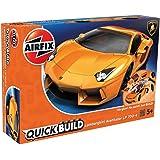 エアフィックス クイックビルドシリーズ ランボルギーニ アヴェンタドール オレンジ 塗装済みブロック式組み立てキット QB6007 プラモデル