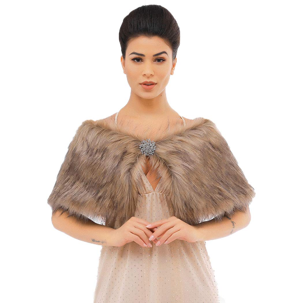 Victray Women's Faux Fur...