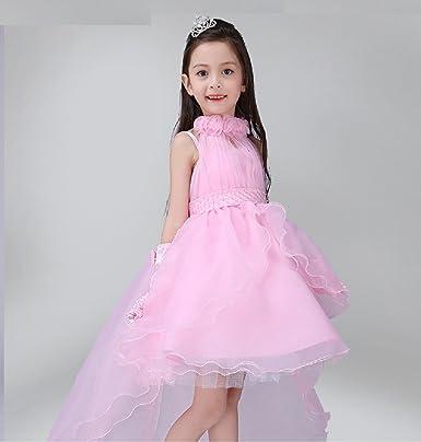 Mädchen Brautkleid - Kleine Braut Hochzeit Kostüm Kleid mit Crown ...