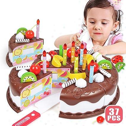Awesome Cake Cutting Toy Lesgos 37Pcs Kitchen Pretend Play Toy Set Non Personalised Birthday Cards Epsylily Jamesorg