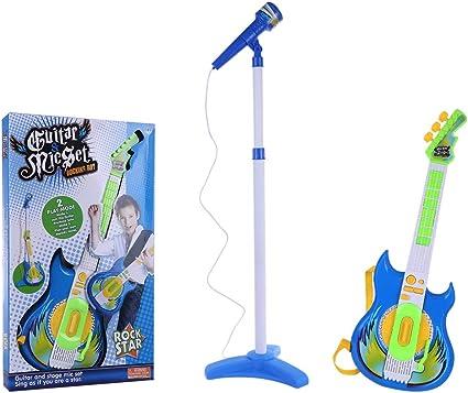 K9CK Guitarra y Micrófono Infantil, Guitarra de Juguete para Niños ...