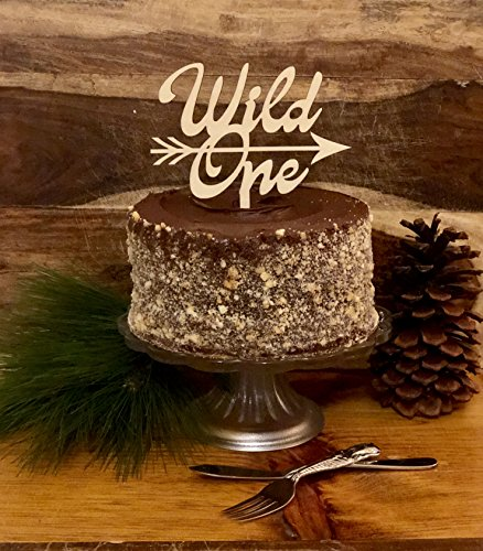 Birthday Cake Topper | Natural Wood |''Wild One'' by Rhodes Creek