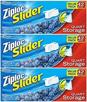 126Ct. Ziploc Slider Quart Storage Bags