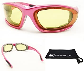 EXTRA SMALL PINK TRANSITION Motorcycle Sunglasses Womens Photochromic Glasses
