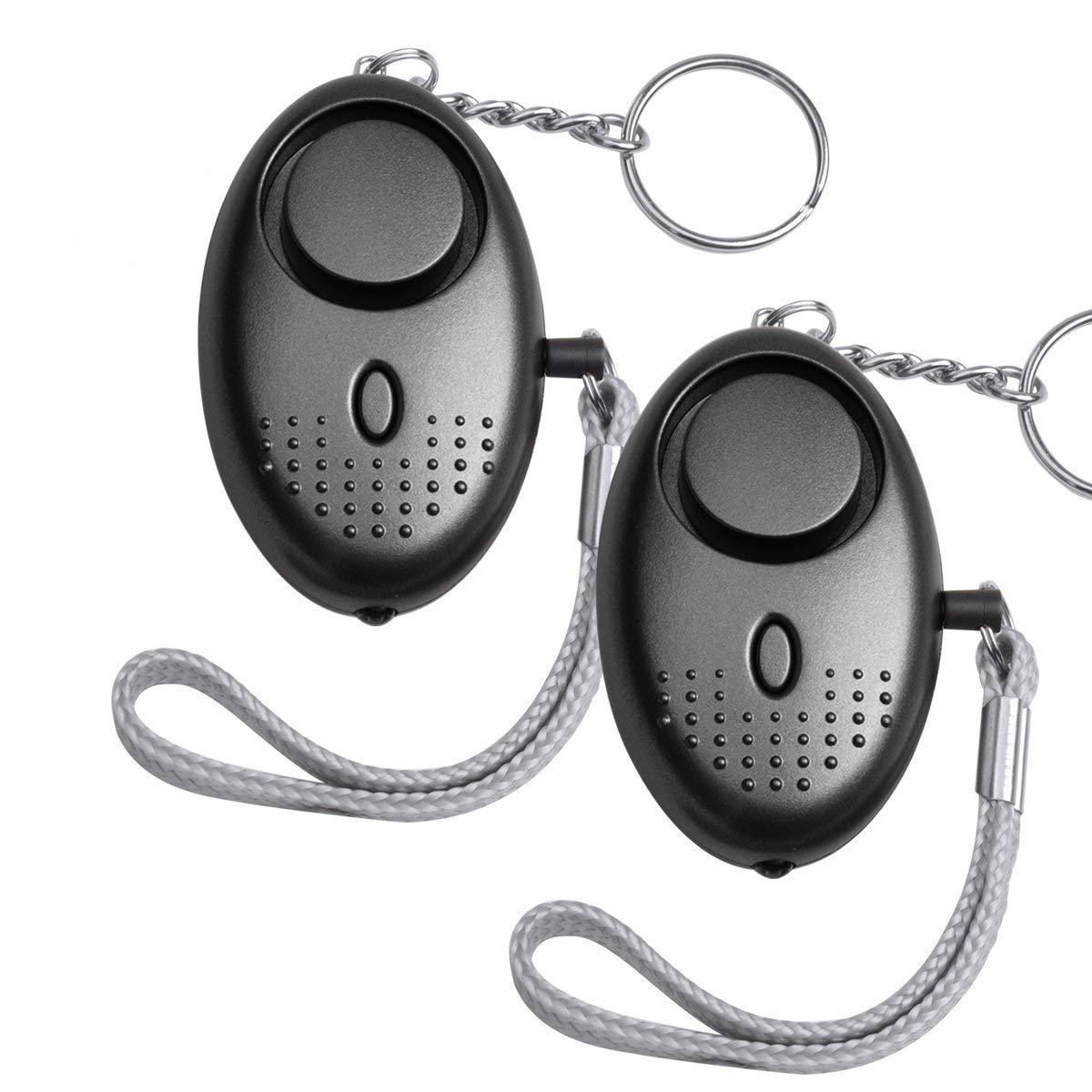 140 dB Mini Panikalarm Taschenalarm Schlüsselanhänger mit Taschenlampe für Frauen Kinder und Senior Miyare
