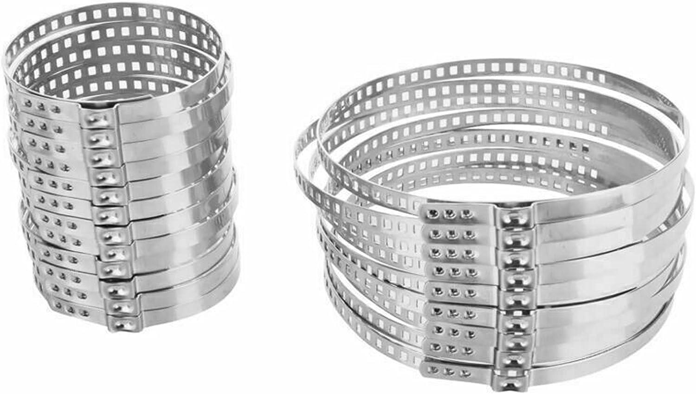YIKXCF 24pcs Coche de Arranque a la Pinza Ajustable del Eje del Eje del Eje del Eje del Eje del Eje del Eje Durable y práctico Abrazaderas Grandes (Color : Silver)