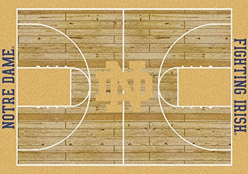 Fighting Irish Basketball Rug (Notre Dame Fighting Irish Milliken NCAA Home Court Area Rug (3'10