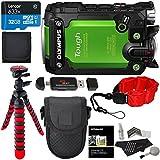 Olympus TG Tracker Stylus Tough Action Camera Green, Lexar 32GB Micro SD, Polaroid Floating Strap, Ritz Gear Tripod, Camera Case and Accessory Bundle