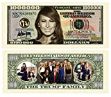 Set of 5 - Melania Trump - First Lady - First Family Million Dollar Bill